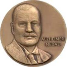 bronze medial with the likeness of Alois Alzheimer